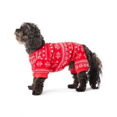 Hotel Doggy Christmas Pajamas Red