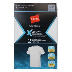 Hanes Ultimate X-Temp T Shirts White 2Pk