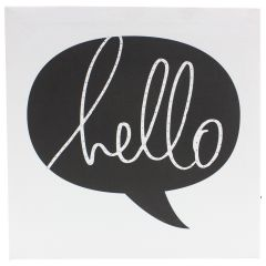 Marquee Love Light Up Hello Speech Bubble Canvas 9 x 9 inch