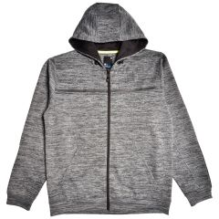 Men's Fleece Hoodie Space Dye Charcoal