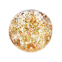Pool Candy Glitter Inflatable Beach Ball Gold 35 cm