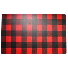Buffalo Plaid Door Mat 17 x 28in