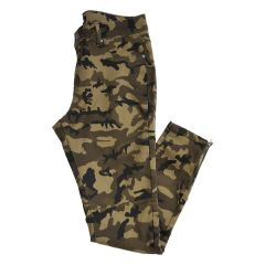 Camouflage Stretch Jean with Ankle Zip
