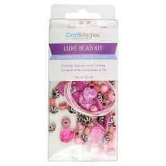 Craft Medley Luxe Acrylic Bead Kit Pink
