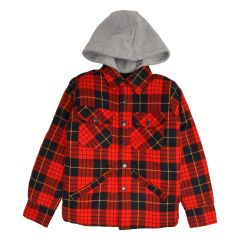 Hooded Quilted Flannel Shirts 8-16