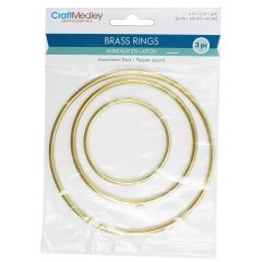 Craft Medley Brass Rings 3Pk