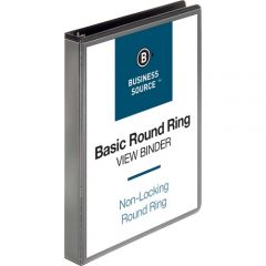 Business Source 1 inch Clear View Presentation Binder Black