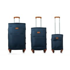 Champs Classic Collection 3 Piece Soft Side Luggage Navy