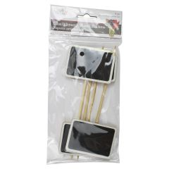 Craft Decor Chalkboard Wood Stakes 4Pk