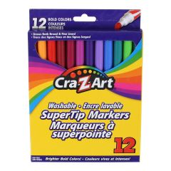 CraZArt Super Tip Washable Markers 12 pack