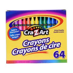 Cra-Z-Art Crayons 64 Pack with Built in Sharpener