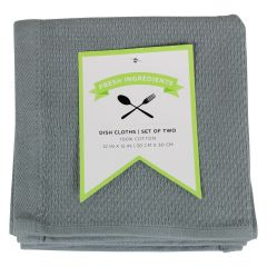Fresh Ingredients Dish Cloth Grey 2PK