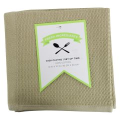 Fresh Ingredients Dish Cloth Khaki 2PK