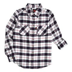 Women's Body 10der Plus Size Flannel Button Front Shirt