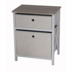Casadcor 2 Drawer Storage Cabinet Brown