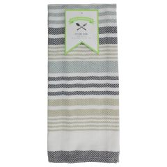 Fresh Ingredients Striped Kitchen Towel