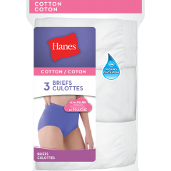 Hanes Cotton Briefs 3Pk White