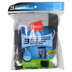 Boys Hanes Boxer 3 Piece Assorted Medium