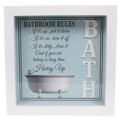 Bathroom 3D Plaque with Quote
