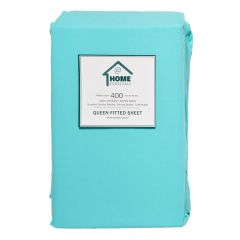 Home Essentials 400 TC Cotton Fitted Sheet Queen Assorted