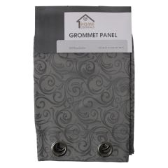 Home Essentials Jacquard Swirl Grommet Curtain Panel 2Pk