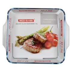 Ikoo Glass Square Glass Baking Dish 1.4 l