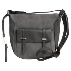 KG&B Satchel Detail Crossbody Bag Grey