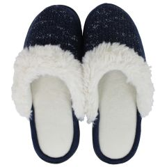 Isotoner Knit Clog Slippers Navy