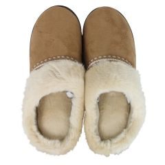 Isotoner High Back Slippers Beige