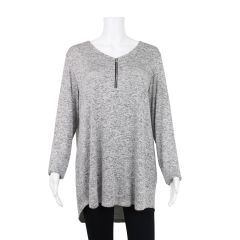 2 Dye 4 Plus Size Zip Neck Sweater