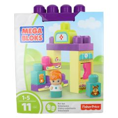 Fisher-Price Mega Bloks Pet Vet Building Blocks