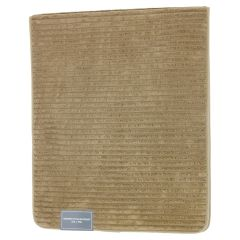 Ribbed Memory Foam Runner Bath Mat Khaki