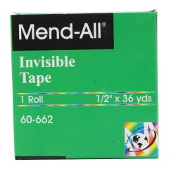 Mend-All Invisible Tape 1 Roll 1/2 in X 36 yds