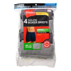 Hanes Tagless Boxer Briefs 4 Pack