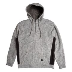 Burnside Fleece Zip Up Hoodie Grey