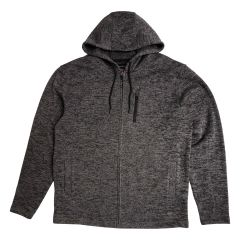 Burnside Fleece Knit Zip Up Hoodie Black