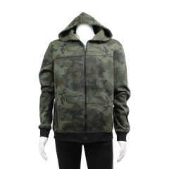 Navy Crew Co. Camouflage Fleece Jacket with Hood