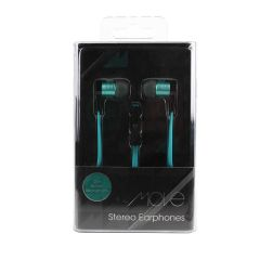 Move Stereo Earphones with Microphone Black/Aqua