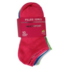 Multisport Low Cut Sock 10 Pack Multicoloured