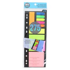 Onyx + Blue Self-Adhesive Notes Assorted 275Pk