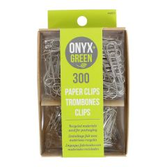 Onyx + Green Paper Clips 300Pk