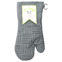 Fresh Ingredients Oven Mitt with Silicone Grips Grey
