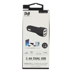 PDI Accessories Dual USB Car Charger 3.4A
