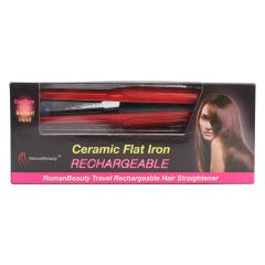 Roman Beauty Rechargeable Ceramic Travel Flat Iron