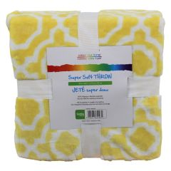 Colour Your Home Super Soft Throw 50x60in