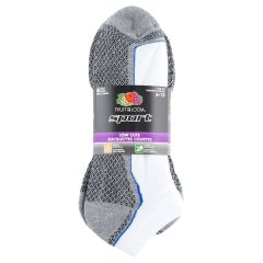Fruit of the Loom Low Cut Ankle Sport Socks 6pk Size 6-12