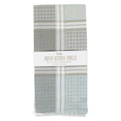 Tag Woven Kitchen Towels Grey 2Pk