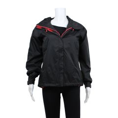 Ladies Black Windbreaker Jacket