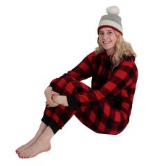 Sandra & Tiffany Buffalo Plaid Jumpsuit Red