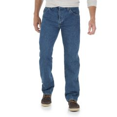 Wrangler 5 Star Mens Regular Fit Jean Blue Long